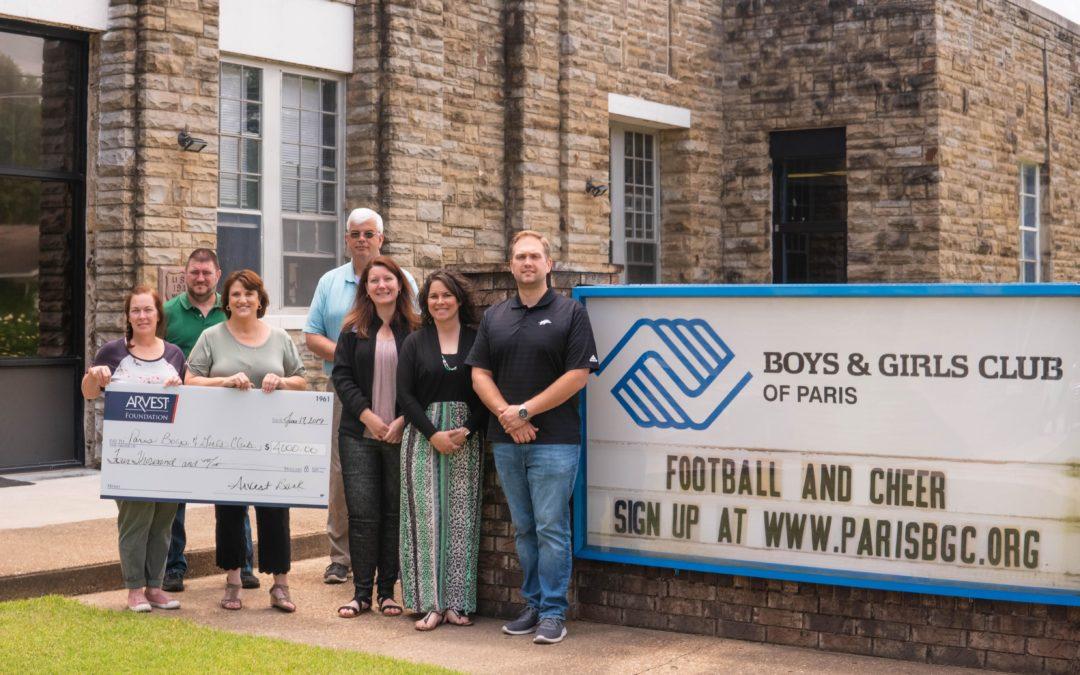 Arvest News Boys & Girls Club of Paris Receives Arvest Foundation Grant