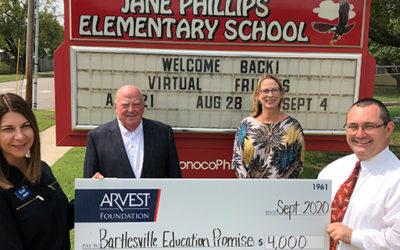 Arvest Foundation Supports Bartlesville Education Promise