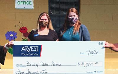 Arvest Foundation Donates $4,000 to Brushy Public School
