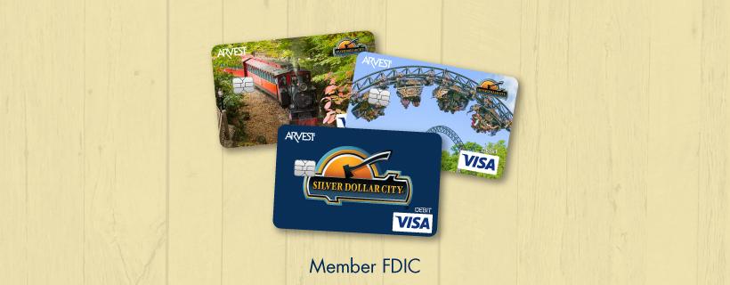 Arvest Bank Unveils Three Silver Dollar City Affinity Debit Cards