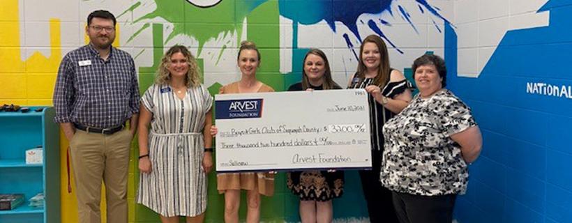Boys & Girls Club of Sequoyah County Receives Arvest Foundation Grant