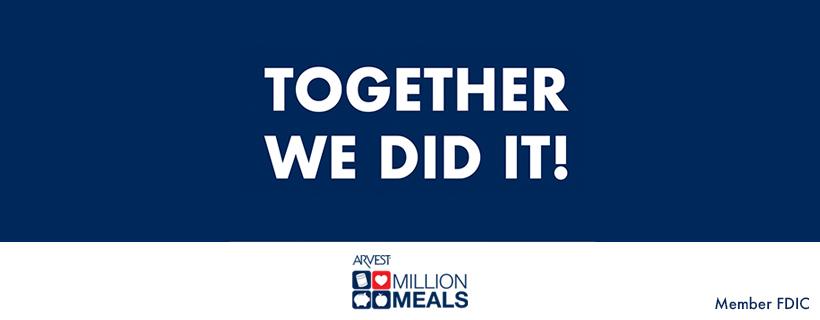 Arvest Provides More Than 1.6 Million Meals
