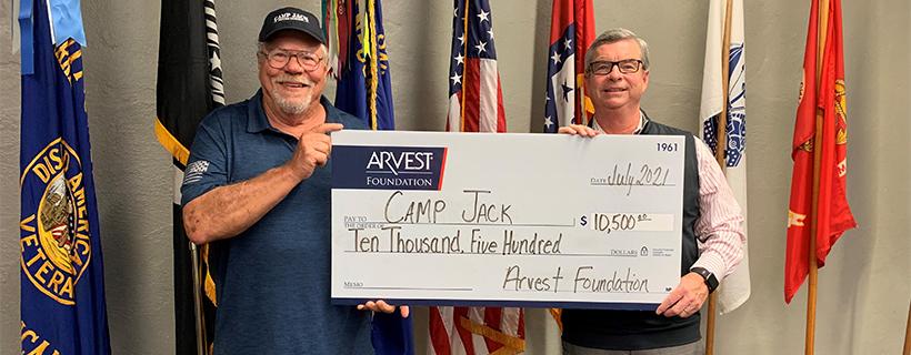 Arvest Foundation Makes $10,500 Grant to 'Camp Jack'